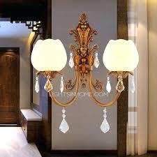 Crystal Bathroom Mirror Sconce Crystal Wall Sconce Lighting 4 Light Wall Sconce Crystal