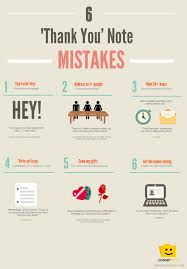 Job Interview Resume by 6 U0027thank You U0027 Note Mistakes Infographic From Careerbliss How
