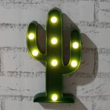 amazon com plastic tropical cactus marquee led lamp light novelty