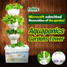 qoo10 biofarm aquaponics gardens tower aquarium fish tank