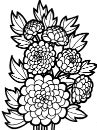dahlia flower coloring pages download and print dahlia flower