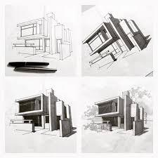 modern architecture design sketch interior design
