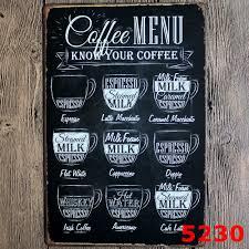 wholesale 200 retro metal painting coffee wall art coffee metal
