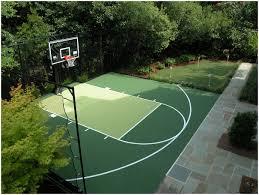 backyards cozy outdoor bounceback backyard basketball court 36