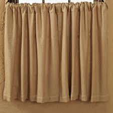 Burlap Country Curtains Black Star Decor Primitive Home Decors