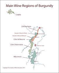 France Regions Map by France Main Wine Regions Of Burgundy In Vino Veritas