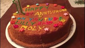 lilly molly channel one year anniversary cake youtube