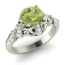 peridot engagement ring vintage peridot engagement rings diamondere
