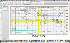 World Map With Longitude And Latitude Lines by Plotting Earthquakes U0026 Volcanoes Youtube
