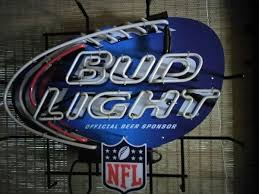 bud light neon signs for sale man cave special bud light nfl neon bar sign official beer sponsor