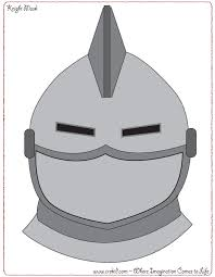 knight mask knights u0026 castles knight printout knight