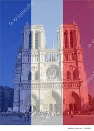 French Flag Pictures Notre Dame And French Flag Illustration