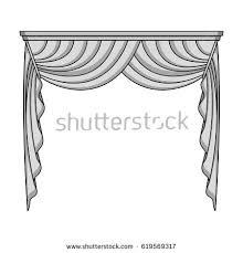 Cornice Curtains Cornice Single Icon Outline Stylecornice Vector Stock Vector