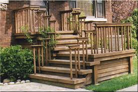 Wooden Stairs Design Outdoor Front Stairs Designs Nurani Org