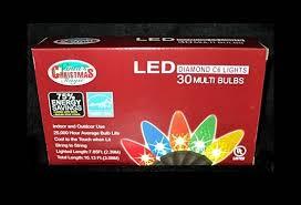 santa u0027s christmas magic c6 led multi color christmas lights