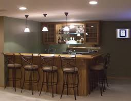 frugal design of basement bar ideas with fair furniture layout
