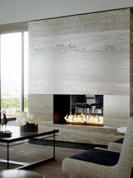 Granite Tile Fireplace Surround Contemporary Travertine Stone Fireplace Interior Design