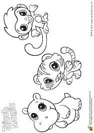 Coloriage leapfrog animaux de la jungle sur Hugolescargotcom