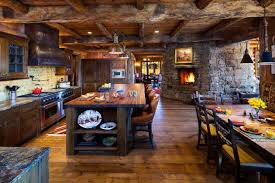 Kitchen Rustic Design Warm Cozy Rustic Kitchen Designs For Your Cabin