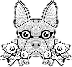 colouring cats dogs zentang interest dog coloring pages for