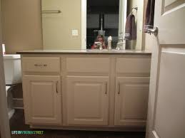 bathroom vanity makeover using country chic paint life on