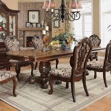 dining room tables expandable furniture of america mallory formal cherry expandable dining table