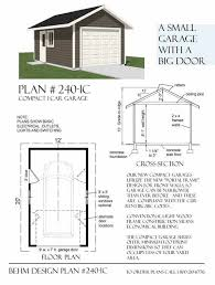Small House Big Garage Plans Compact Garage Is Sized To Minimum Footprint With Standard Wall