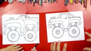 monster truck shows for kids how to draw a monster truck art for kids hub