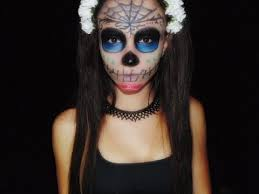 halloween sugar skull makeup tutorial youtube