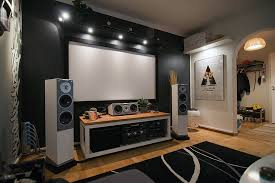 Simple yet Perfect Living Room Home Theater Ideas