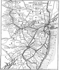 Pennsylvania Railroad Map by The Central Railroad Of New Jersey
