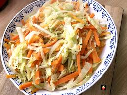 easy garlic cabbage and carrots is a lovely side dish