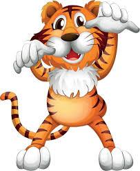 funny tiger scaring cartoon home decal vinyl sticker 11 u0027 u0027 x 14