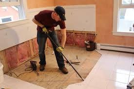 flooring how to tile floor on concrete with radiant heat shower