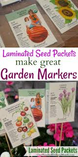 seed packets garden markers laminated seed packets one hundred dollars a month