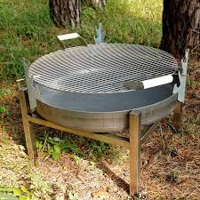 Backyard Fire Pit Grill by Steel Crate Fire Pit By Arpe Studio Uk Notonthehighstreet Com
