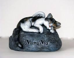 cat cremation ceramic engraved painted cat cremation urn made pet urn