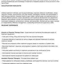 Sample Physical Therapist Resume by 1902 Best Free Resume Sample Images On Pinterest Cover Letters