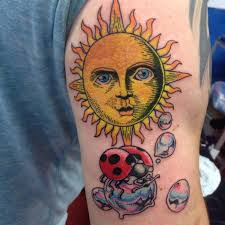 100 impressive sun tattoos and meanings april 2018