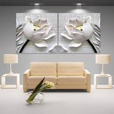 modern 3d white lotus definition pictures canvas home decoration modern 3d white lotus definition pictures canvas home decoration living room wall modular painting print cuadros