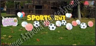 Birthday Lawn Decorations Sports Party Prop Rentals Sports Party Yard Decorations Phoenix