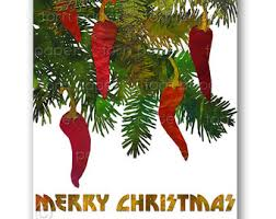 Chili Pepper Christmas Ornaments - pepper card etsy