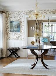 Wallpaper For Dining Room Design Ideas Stylish Wallpaper In Gray And White For The