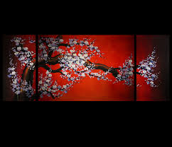 feng shui bedroom wall art painting cherry blossoms idolza