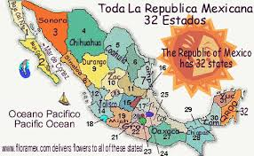 map of mexico with states map of mexico mapa de mexico