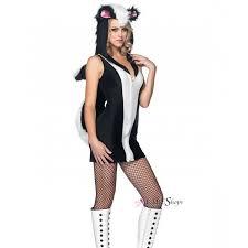 Fluffy Halloween Costumes Stinkin Cute Skunk Womens Costume Halloween Costume