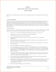 11 construction scope of work template authorizationletters org