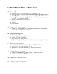 business plan outline traditional business plan outline business