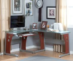 L Shaped Glass Desk With Drawers by Table Glass Table Desk Gratifying Glass Table Desk Ikea