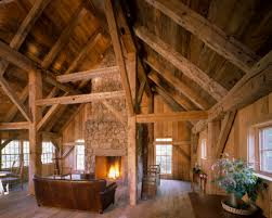 timber frame barn style house house interior